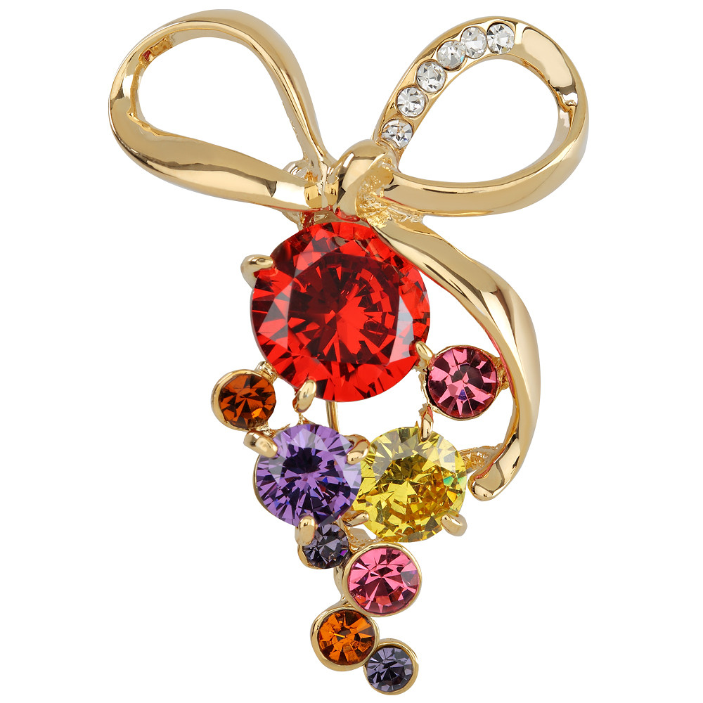 Asfour Crystal Tropical Brooch