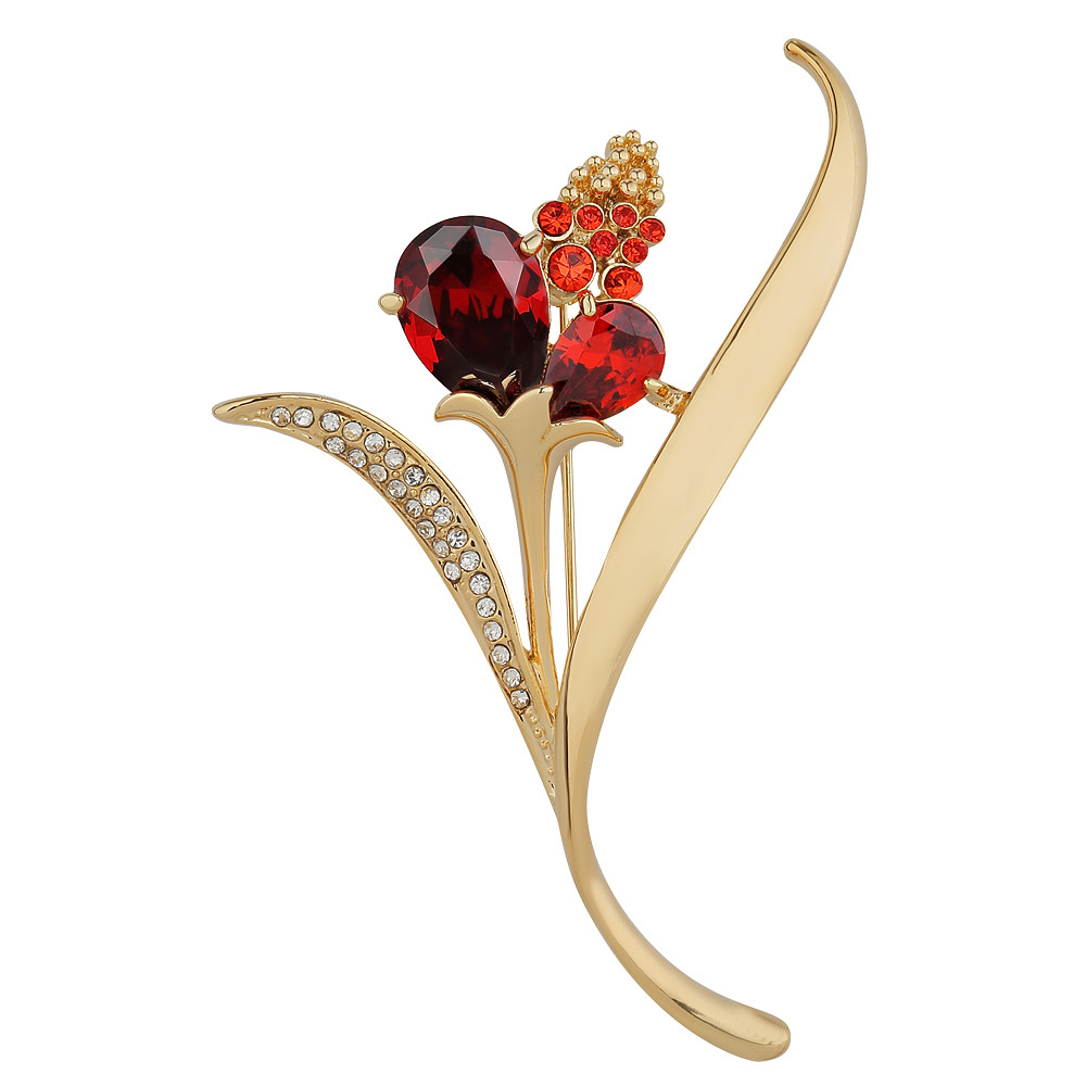 Asfour Crystal Lite Flower Brooch