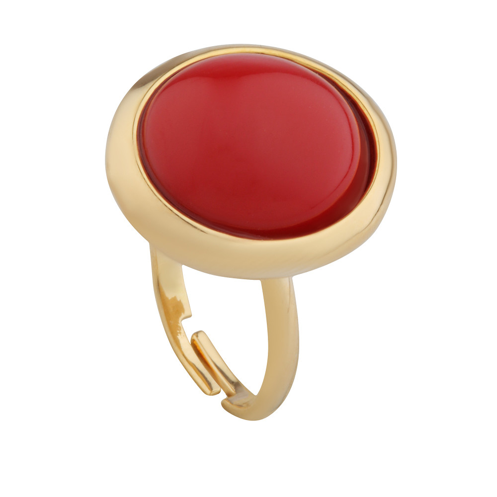 Asfour Crystal Casual Red Ring