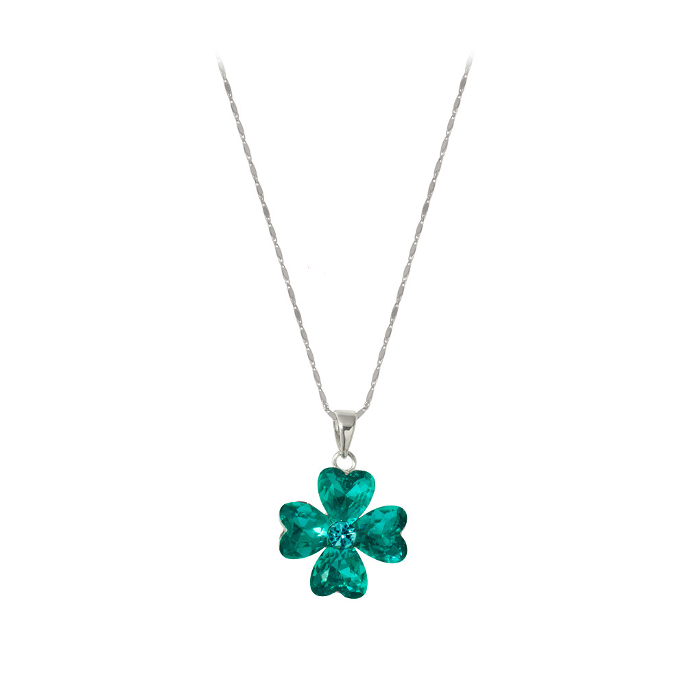 Asfour Crystal Tropical Geen Neckless