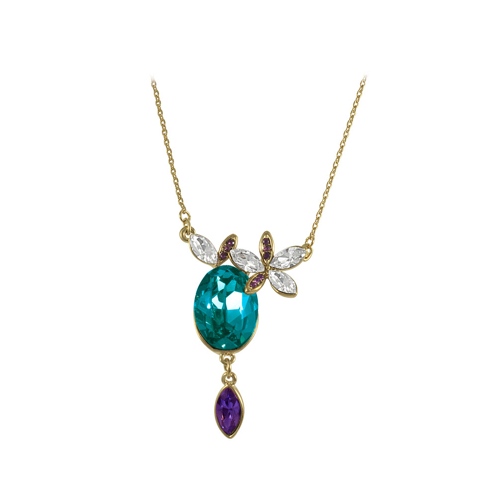 Asfour Crystal Tropical Blue Neckless