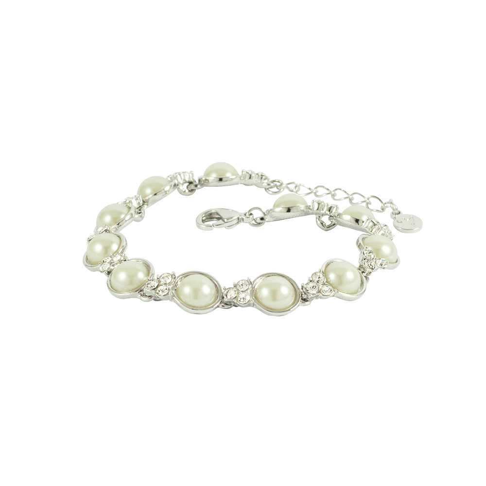 Asfour Crystal Pearl Braclet