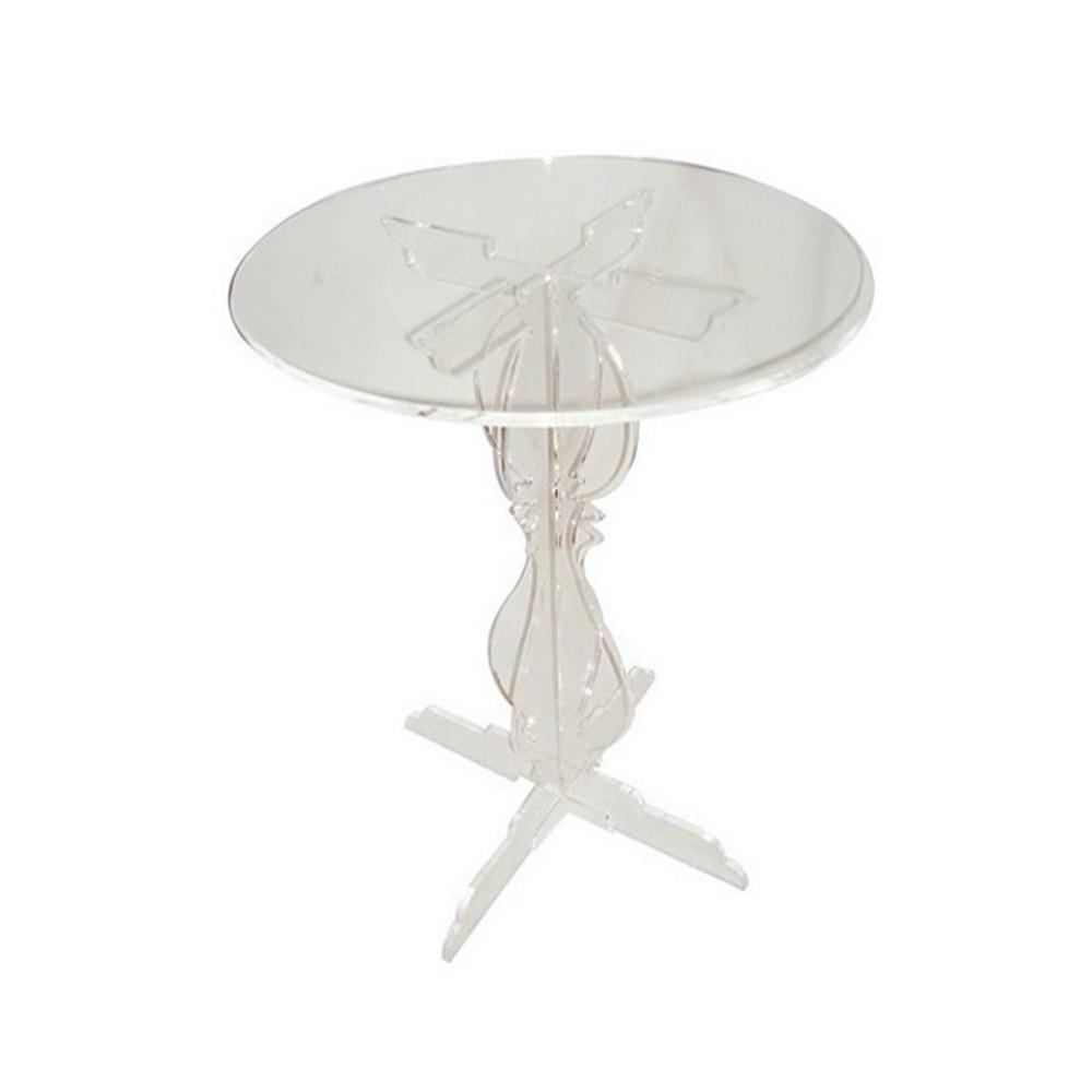 Dezignablez Plexiglass 2D Legs Round Table