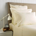 Sateen 400 Thread Count Emperor Plain Dye Fitted Sheet  Gold