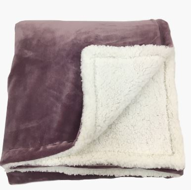 Cloud Cozy Blanket with Sherpa 220x240 cm  Elderberry