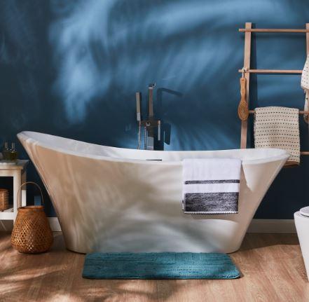 Loft Memory Foam Bathmat - Tranquil Blue