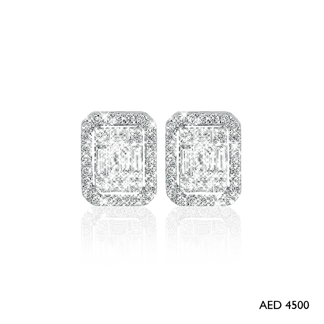Emerald Cut Earrings