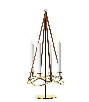 Season Extension For Candleholder  18KT Gold Plated Stainless Steel