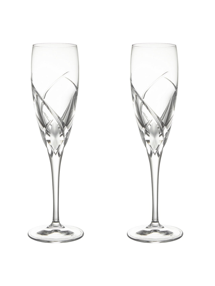 Grosseto Cut Crystal Glass Flute  Clear