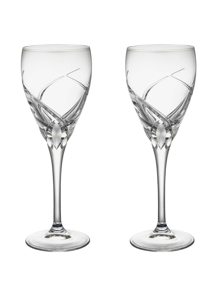 Grosseto White Wine Cut Crystal Glasses  Clear