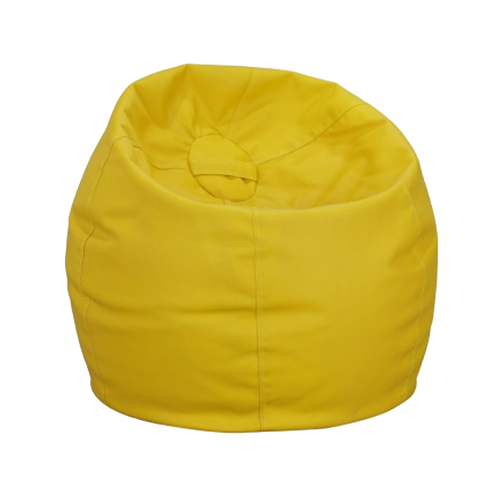 Faux Leather Bean Bag Yellow