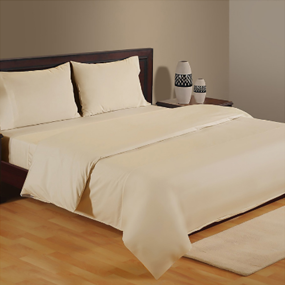 Infinity 3-Piece Duvet Cover Set - 230x220 cm Cream