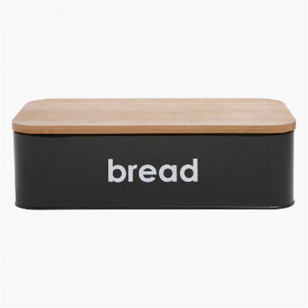 Midiron Bread Bin with Bamboo Cover