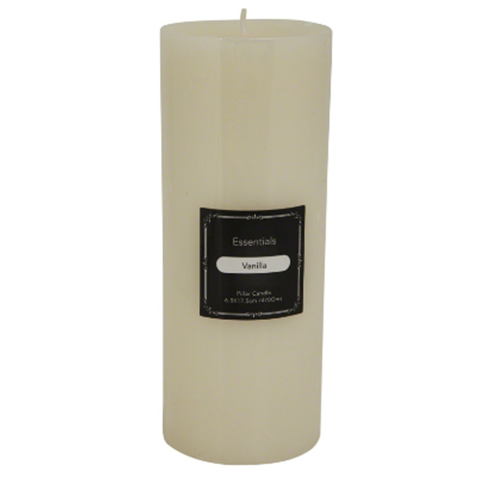 Essentials Scented Pillar Candle - Vanilla