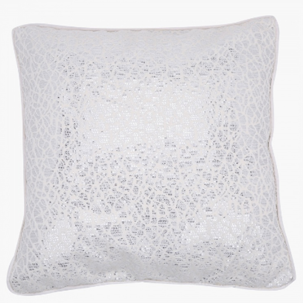 Trail Filled Cushion - 44x44 cm Silver