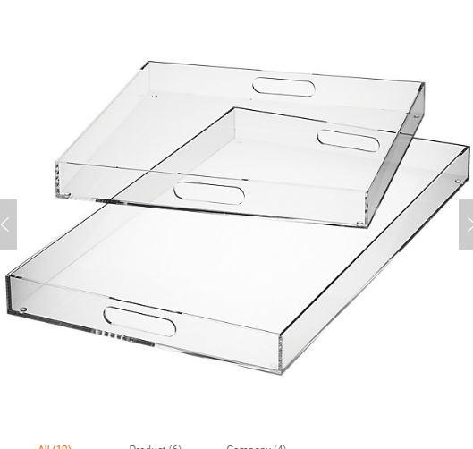 Hertz  Tray Plexi Arabesque 30X43 White