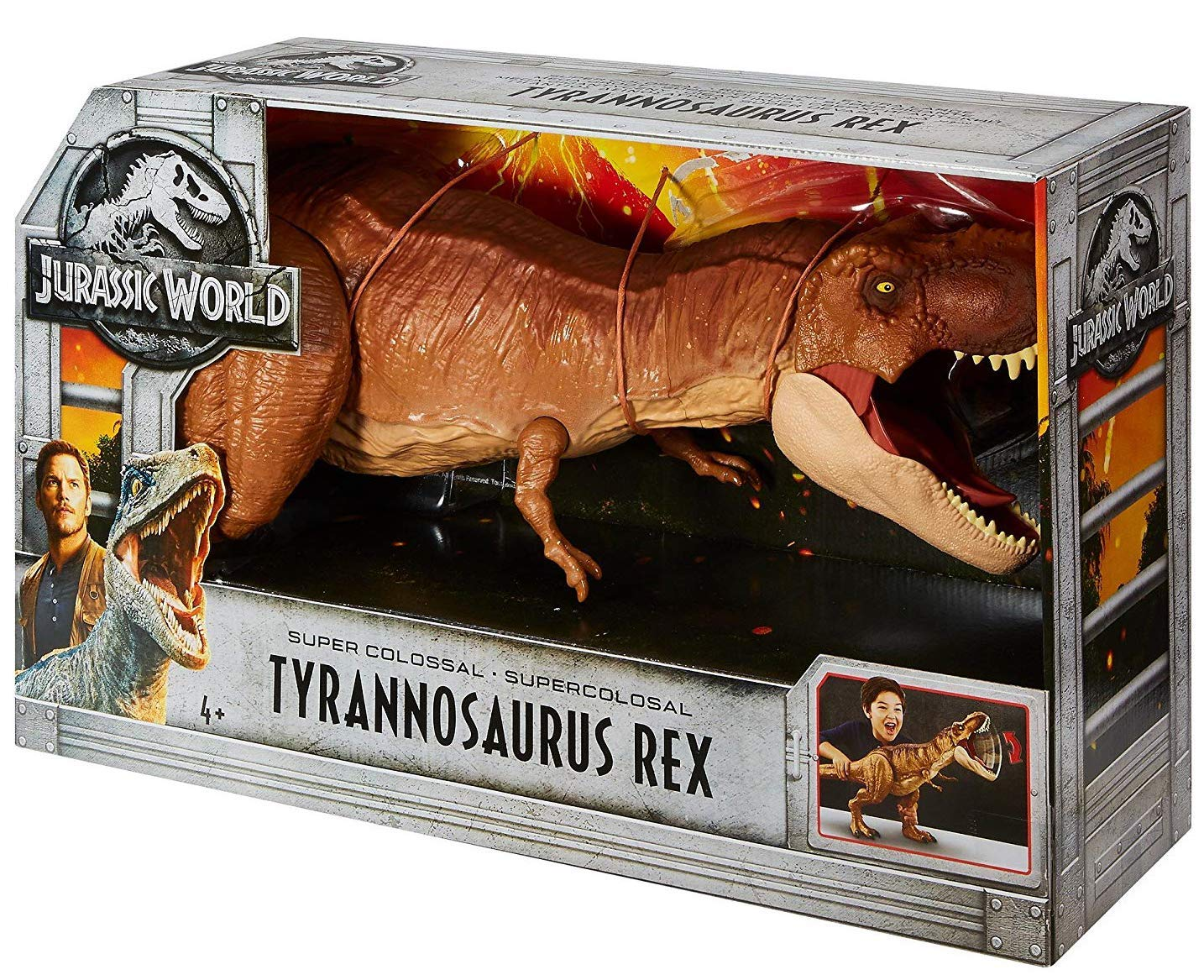 Jurassic World FMY70 Thrash N Throw Tyrannosaurus Rex Figure