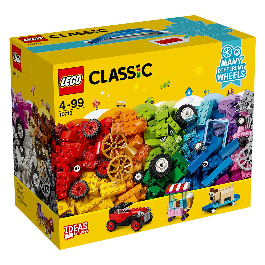 Classic Bricks on a Roll Construction Set, Colourful Vehicle Toy Bricks
