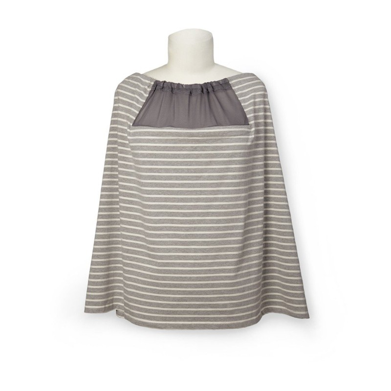 Skip Hop Nursing Scarf Grey Stripe