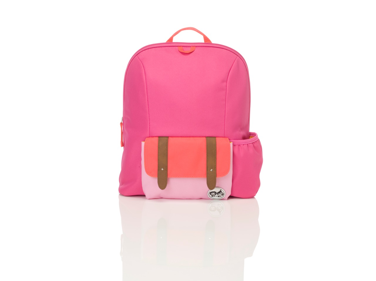 Zip and Zoe Midi Kid's Backpack (3-7Y) Hot Pink Colour Block
