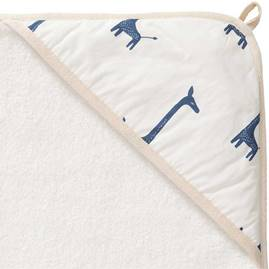 Fresk Hooded Towel Giraffe Indigo Blue