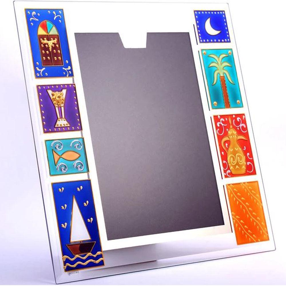 Handpainted Glass Photo Frame