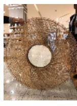 Mirror Round Spiral Bamboo Nat