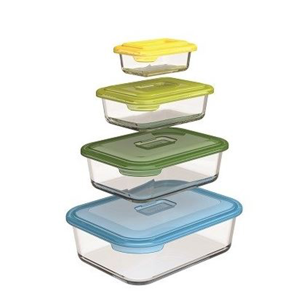 Nest Glass Containers, Set of 4