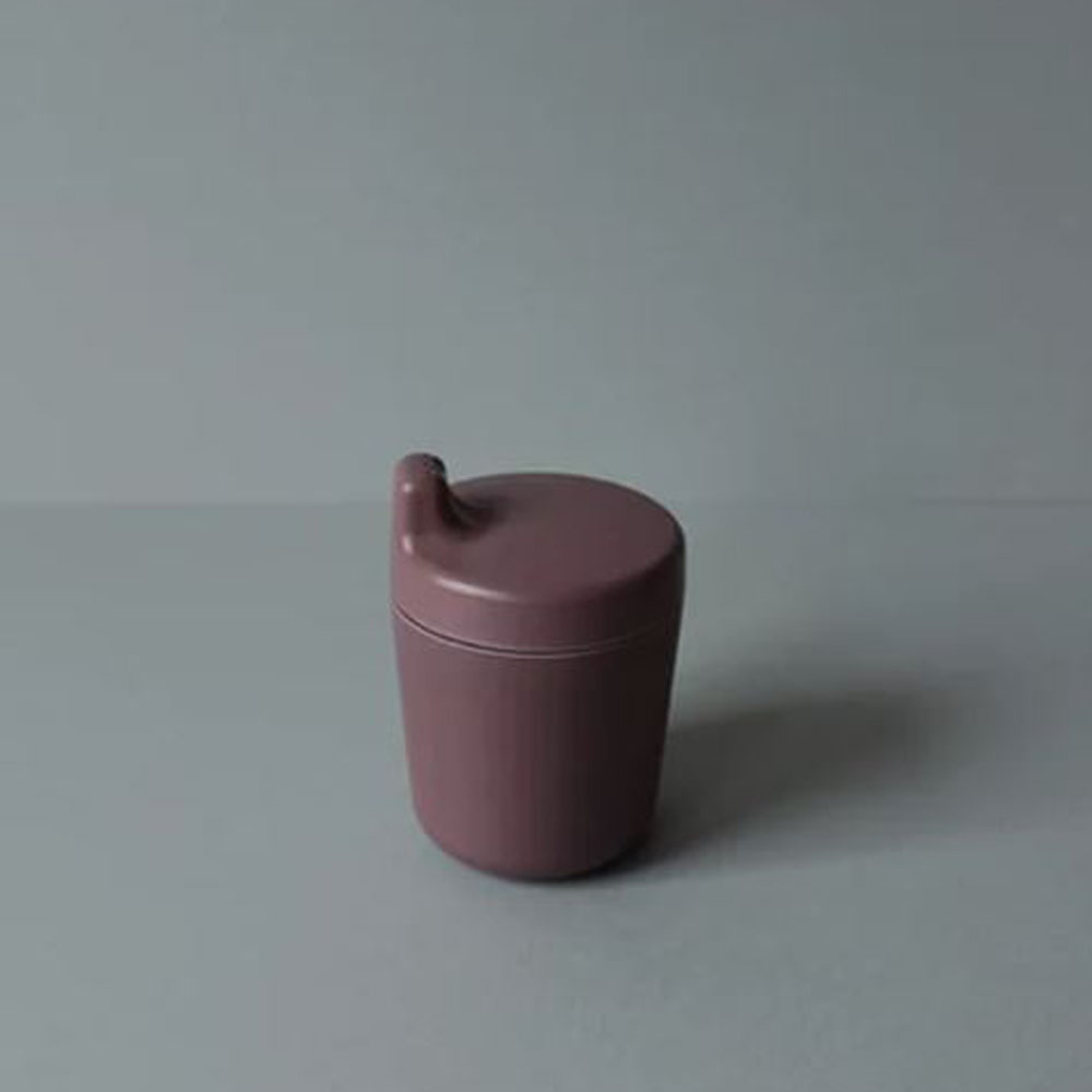 Bamboo Sippy Cup Lid Beet