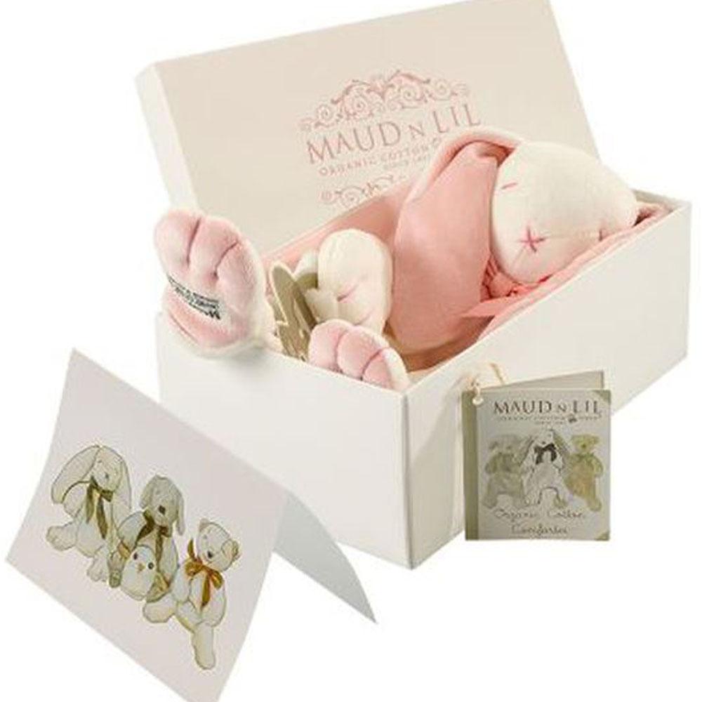 Rose The Bunny Organic Comforter, White/Pink