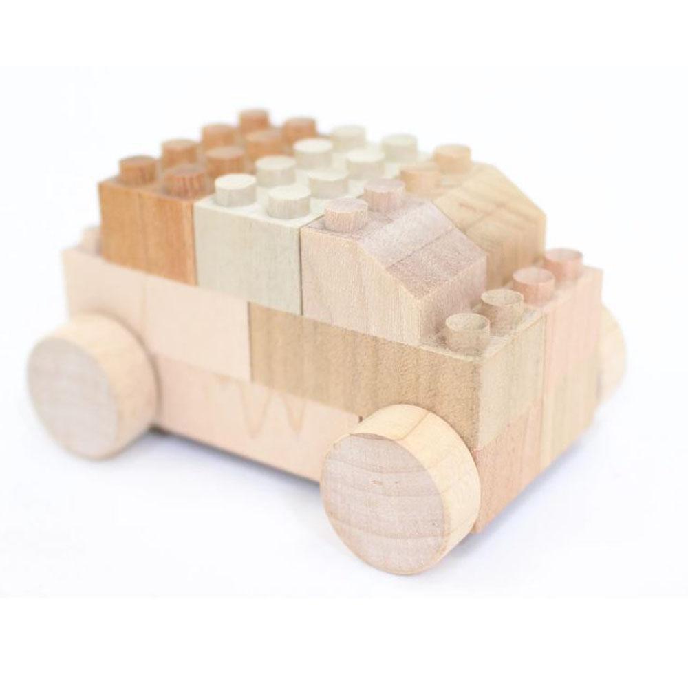 Eco Wooden Bricks with Wheels