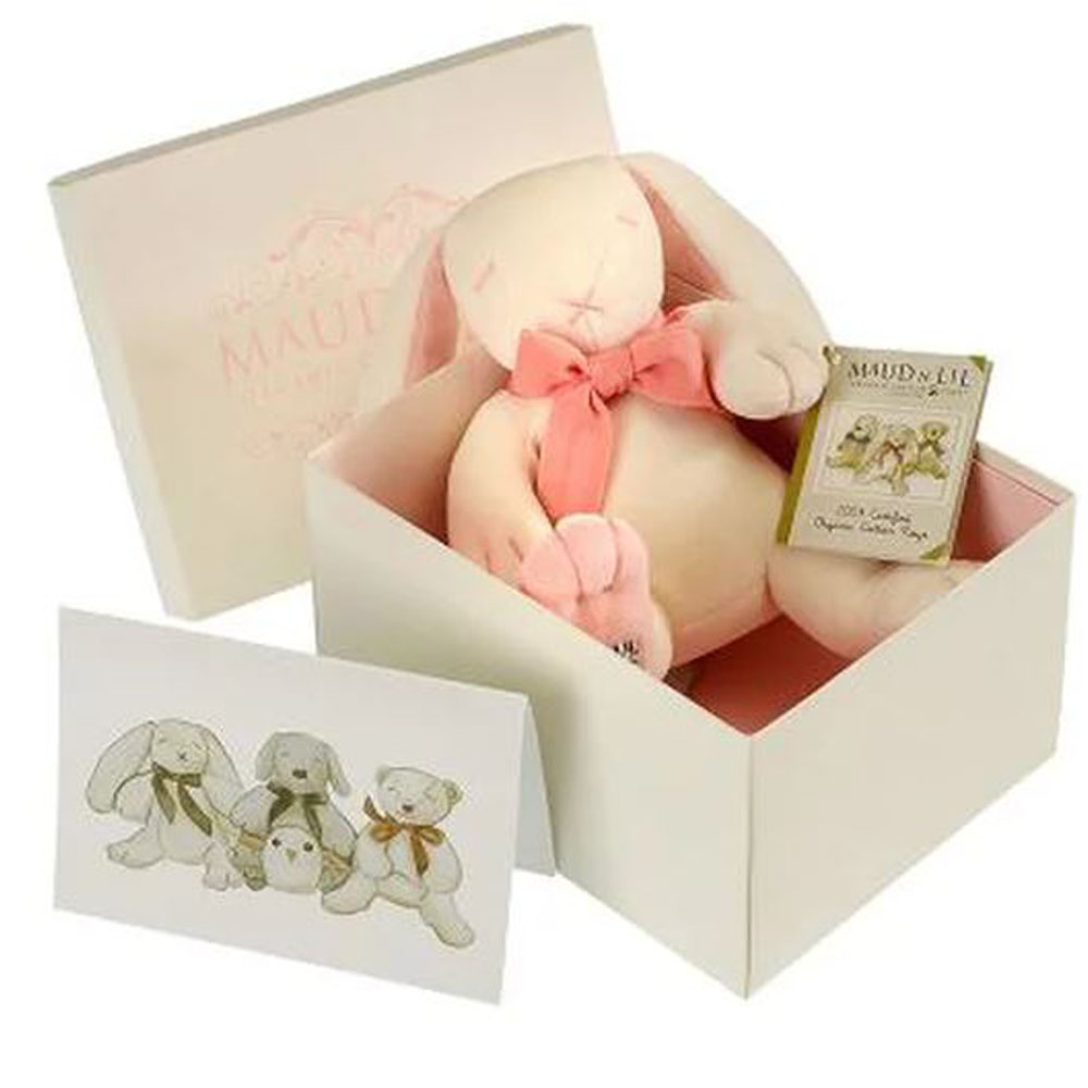 Rose The Bunny Organic Toy, White/Pink