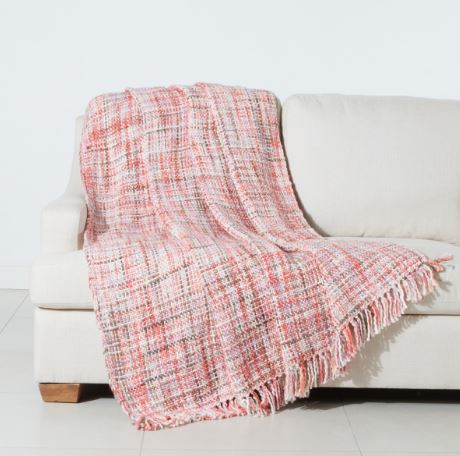 Chunky Stripes Throws - Orange