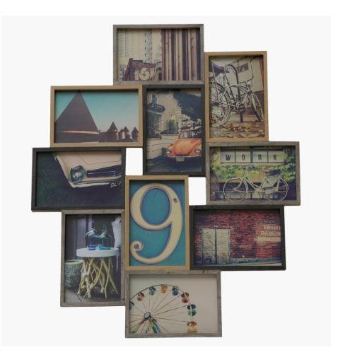 Bristol 10 Photo Frame Collage - Oak