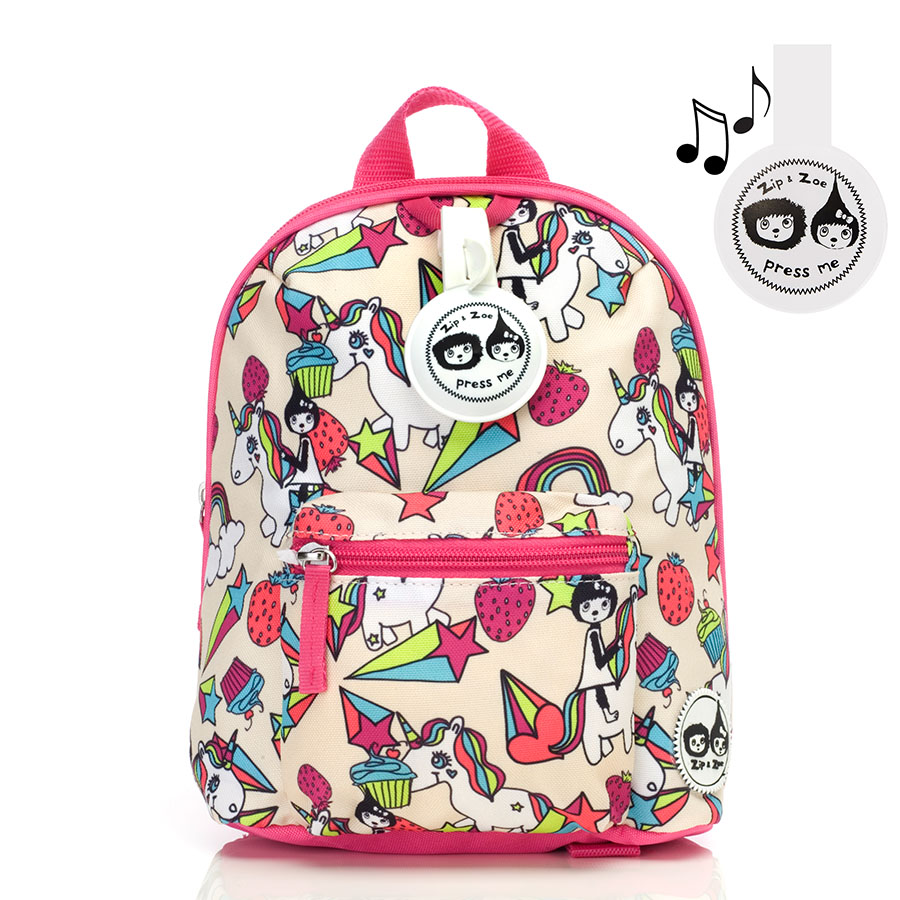Zip and Zoe Mini Backpack+ Safety Harness (1-4Y) Unicorn
