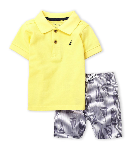 2-Piece Polo & Sailboat Shorts Set