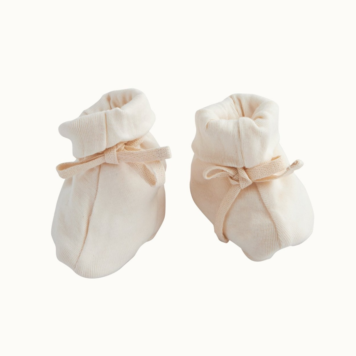 Nature Baby Organic Cotton Booties 0-3M -Natural