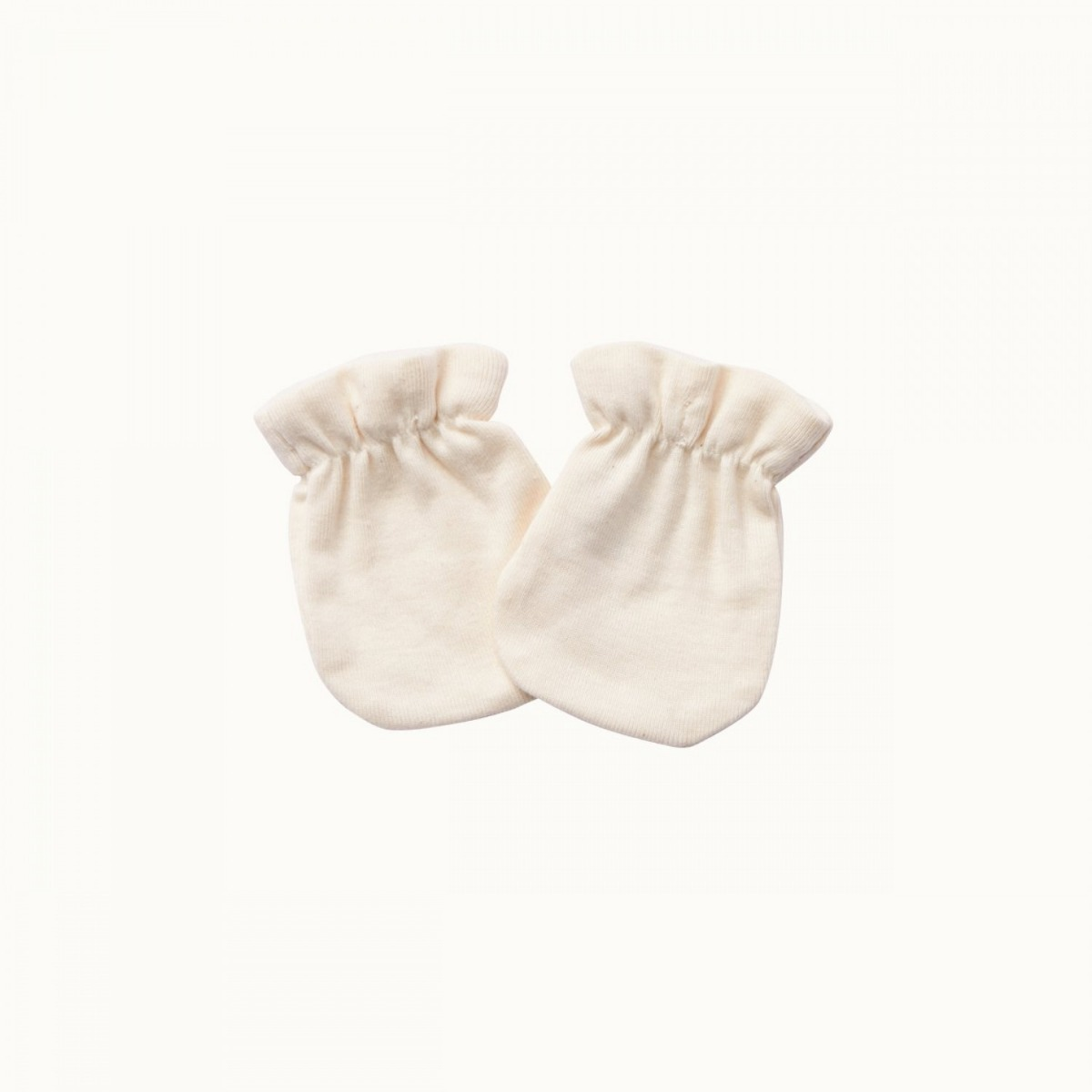 Nature Baby Organic Cotton Newborn Scratch Mittens 0-3M- Natural