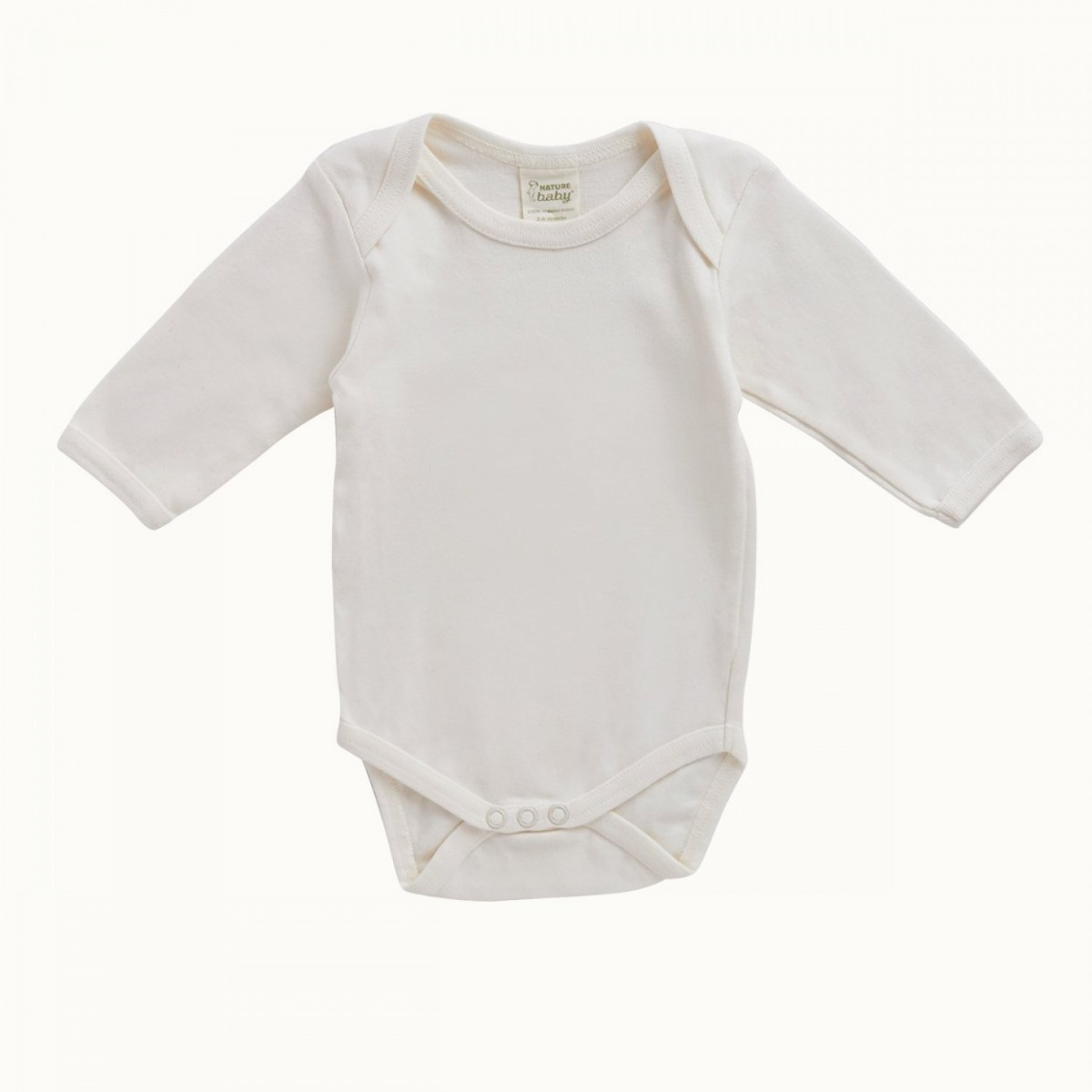 Nature Baby Organic Cotton Long Sleeve Bodysuit 0-3M