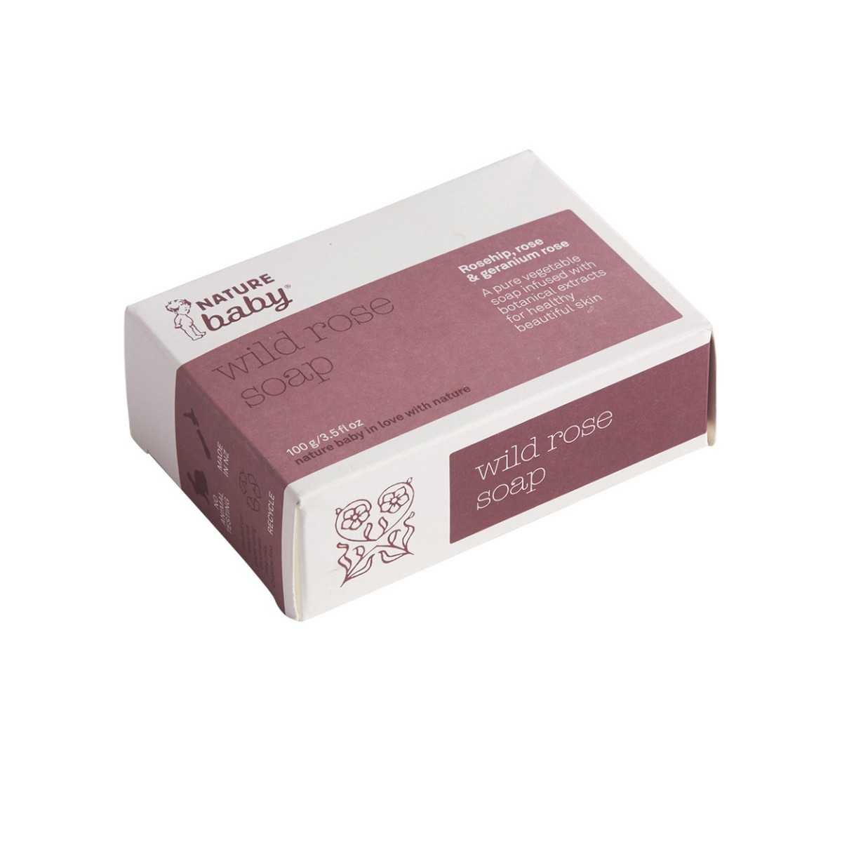 Nature Baby Mums Wild Rose Soap - 100g