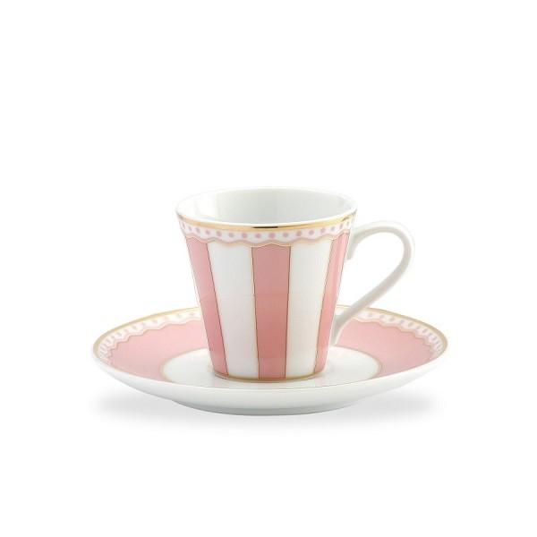 Noritake Carnivale Pink Espresso Cup & Saucer