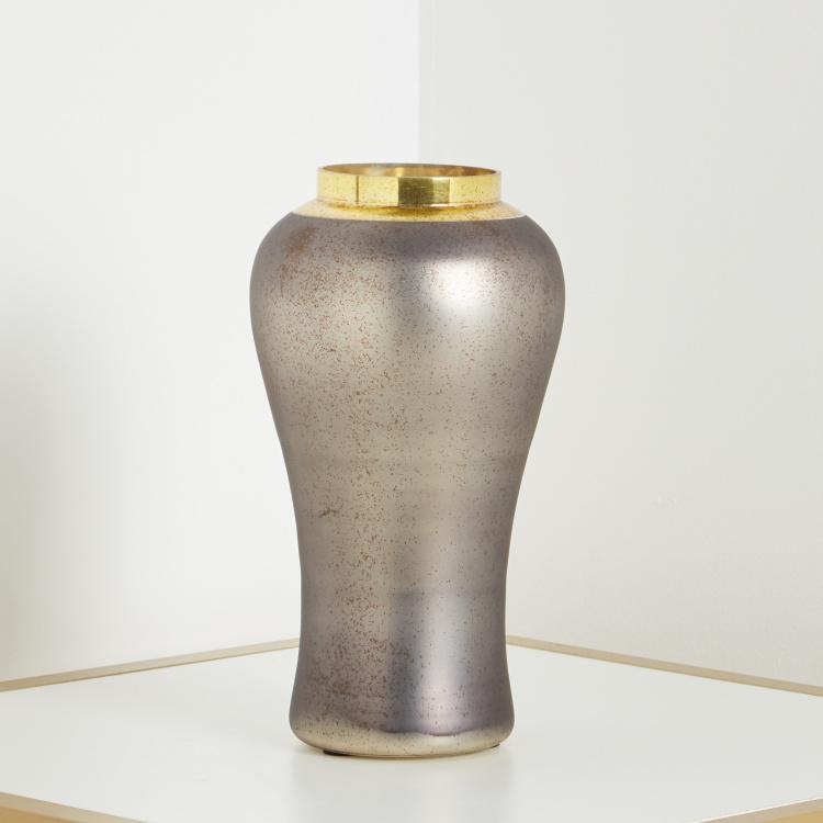 Omis HS Neutral glaomur Glass Vase 16x31cm - Bronze