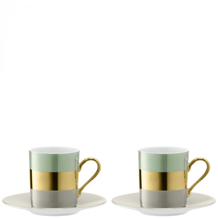 LSA BANGLE Coffee Cup & Saucer X 2