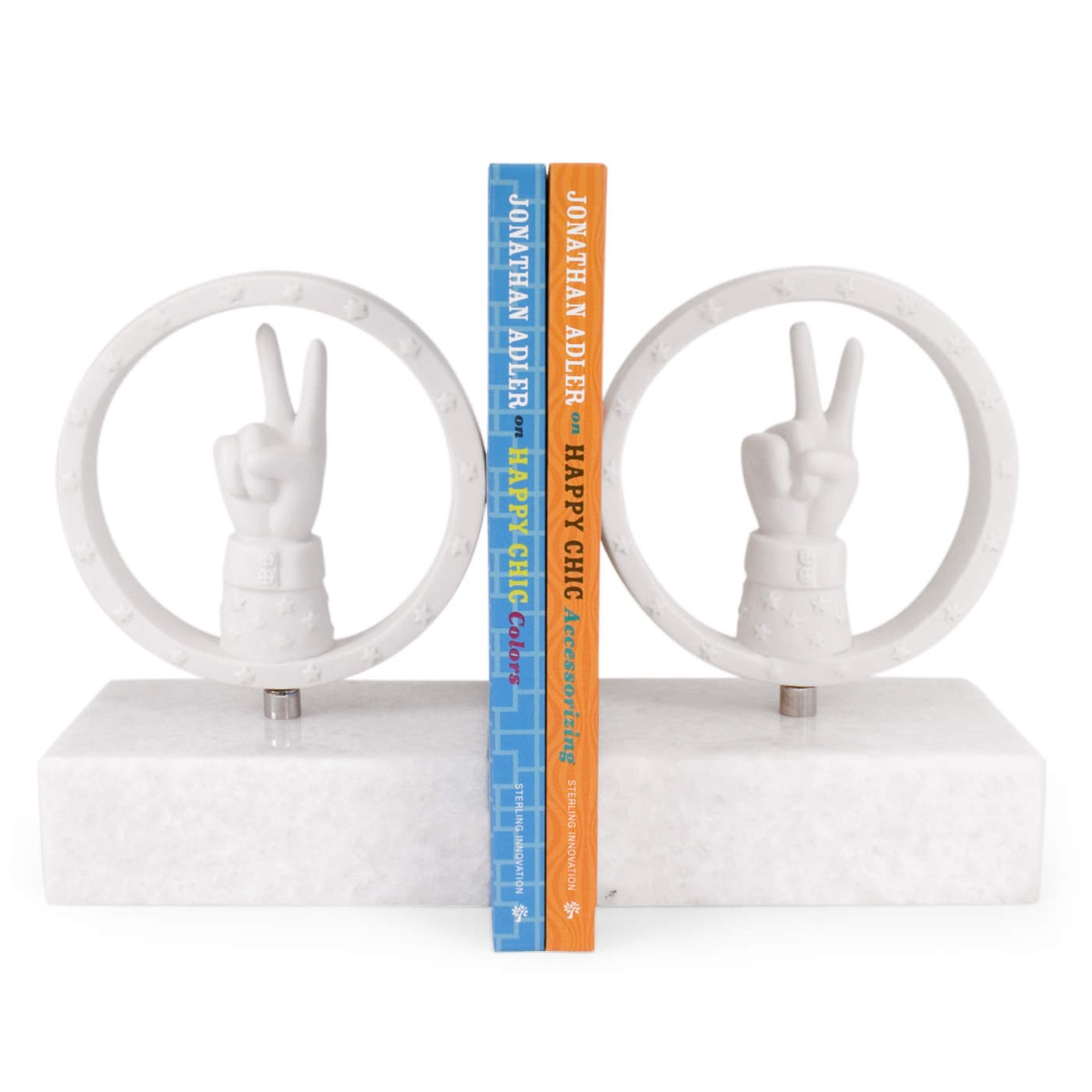 PEACE BOOKEND SET