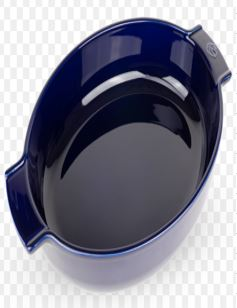 Appolia Oval Dish 40cm Blue
