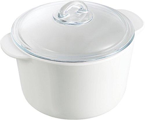 Pyrex Flame Vitro-ceramic round Casserole + glass lid 3Ltr