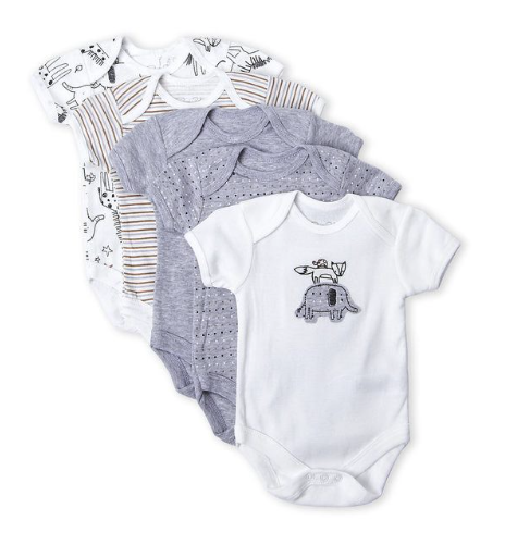 5-Pack Zoo Animal Bodysuits