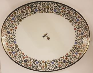 Floral Medium Oval Platter