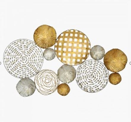 Spherical Wonders Wall Decor 87x3x50 cm GoldSilver