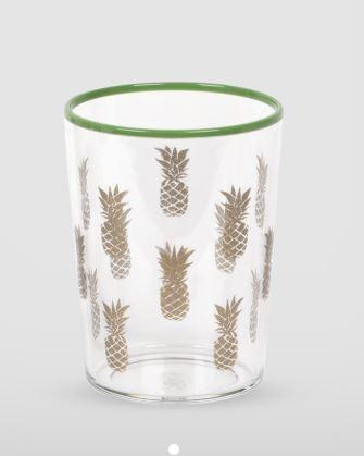 Tarhong Tropical Pineapple Print Tumbler